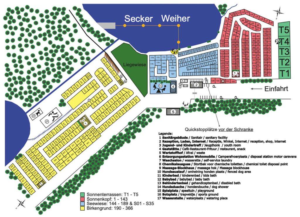 Platzplan Camping Park Weiherhof